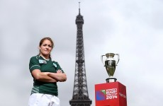 Ireland captain Fiona Coghlan takes World Cup trophy to visit Eiffel Tower
