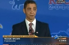 Watch: 'Obama' cut short at Republican conference