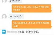Irish guy burns French girl on dating app over Thierry Henry handball
