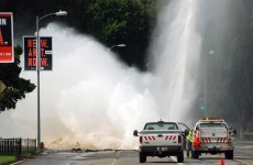 Burst water main in Los Angeles spews almost 40 million litres of water over three hours
