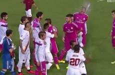 Old enemies Seydou Keita and Pepe clash again during Real Madrid/Roma friendly