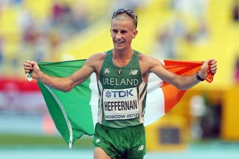 Ireland's Rob Heffernan last year won gold at the World Championships.