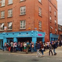 Dublin people queue for hours for a free burrito