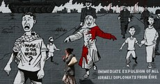 Have you seen the mural about the Gaza conflict painted on the Falls Road?