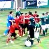 Player gets kicked in the head as four sent off during Milk Cup game