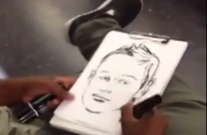Man draws quick, amazing portraits of commuters on the new New York subway