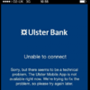 Ulster Bank is having some issues with its mobile banking this morning...