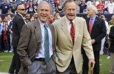 President Bush is writing a biography of his dad, President Bush
