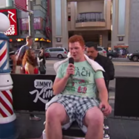 Red-haired lad from Offaly ends up getting a haircut on Jimmy Kimmel