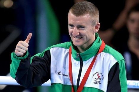 Paddy Barnes after winning gold in Glasgow.