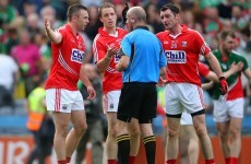 Colm O'Neill told by ref there was 'a minute or so left' in yesterday's Cork-Mayo game