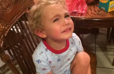 Little boy has extremely melodramatic reaction to taking a plaster off