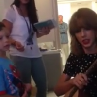 Taylor Swift surprises young cancer patient with adorable duet