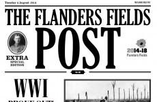 Poignant 1914 newspaper turns Irish clocks back to WWI