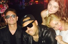 Bono and his daughter hang out with Chris Brown in Monaco