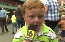Little boy steals the show and your heart on local news segment