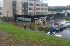 Fire crews on the scene of Letterkenny hospital flooding