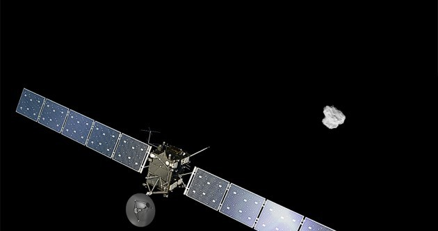 Rosetta spacecraft reaches comet it's been chasing for ten years