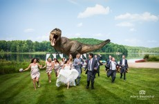 This couple got Jeff Goldblum to recreate a scene from Jurassic Park at their wedding