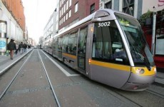 Man in hospital with suspected broken arm after being hit by Luas