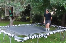 Trampoline stunt goes terribly wrong