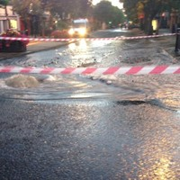 A burst water main did this to Swords main street