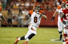 Bengals QB vomits TWICE before nailing touchdown pass