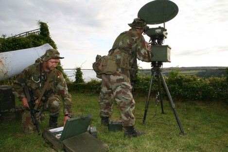 File photo from 2007 of Defence Forces troops using ground radar. Ten similar units, made by Israeli companies, were bought in the past two years.