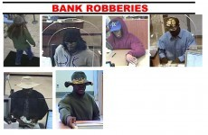 Repeat bank robber styles each stickup with a different hat