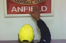 Jurgen Klopp pays respects to Liverpool by touching 'This Is Anfield' sign