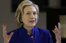 Hillary Clinton is in no doubt who she blames for the deaths in Gaza