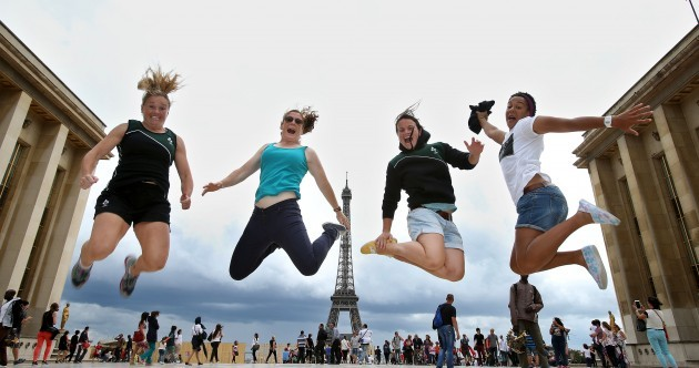 In pictures: Irish women in relaxed mood as they enjoy down day in Paris