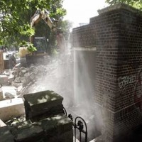 In pics: Iconic public toilet demolished in Dublin