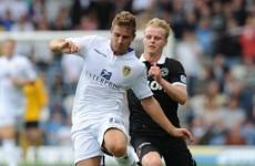 Leeds player marks his debut with a Cantona-esque kung fu kick