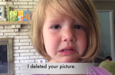 Four-year-old girl learns about deleting pictures, and is utterly heartbroken