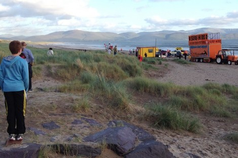 The scene of the rescue this evening