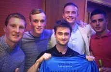 Daniel Radcliffe met up with the Dublin minor football team again last night