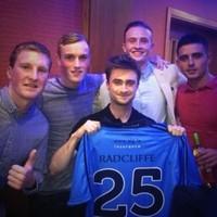 Daniel Radcliffe met up with the Dublin minor football team again last night