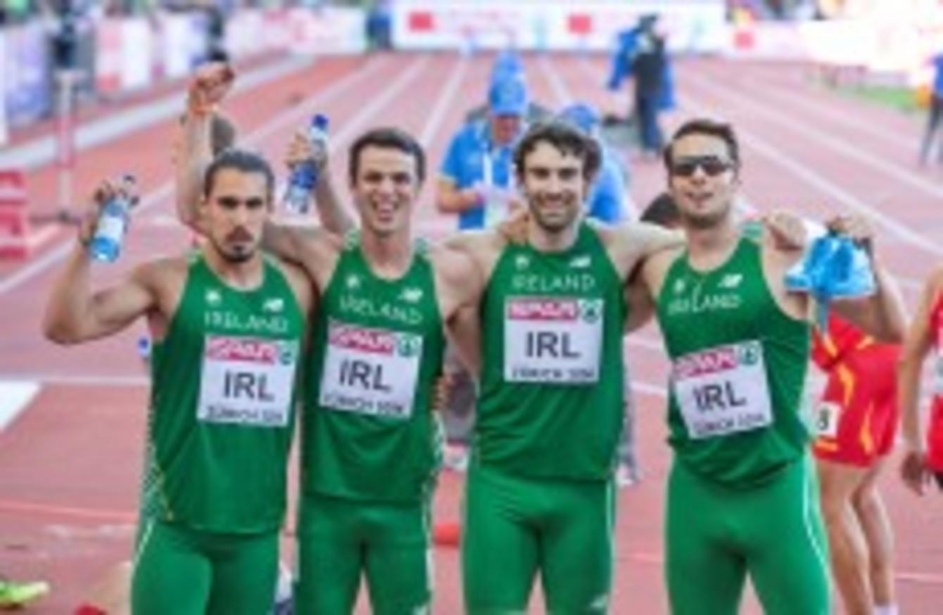 irelands mens 4x400m team - 960×540