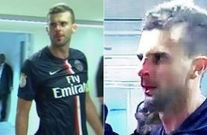 VIDEO: Bastia's Brandao head-butts PSG midfielder Thiago Motta and breaks his nose