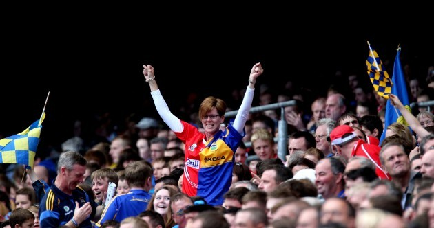 Snapshot: This fan was both happy and sad after today's All-Ireland semi-final