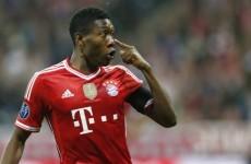 David Alaba scored an absolute howitzer for Bayern Munich earlier