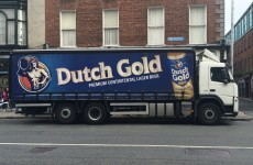 This Dutch Gold lorry in Dublin has misspelled its own slogan