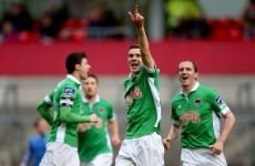 Cork City held by 10-man Bray