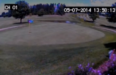Galway golfer's reaction to getting a hole in one captured on CCTV