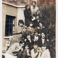 Can you help identify these pioneering 1920s Irish science students?