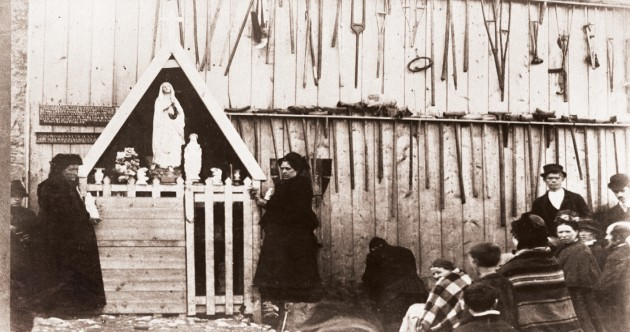 Here's what appeared to witnesses in Knock, 135 years ago today