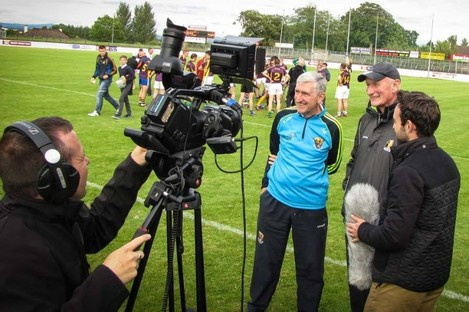 Irish TV interviewing Brian Cody and Liam Griffin