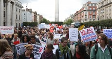 Hundreds of protesters turn out in Dublin over Ireland's abortion laws