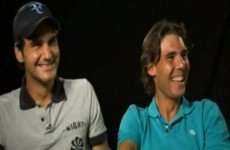 Watch: Nadal and Federer's on camera laughing fit